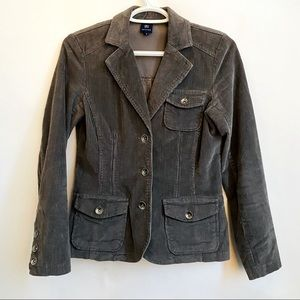Corduroy Fitted Jacket R Petite